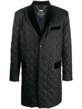 Billionaire long quilted coat - Black
