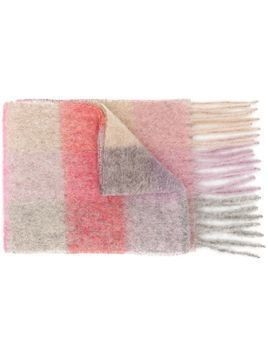Acne Studios striped scarf - PINK