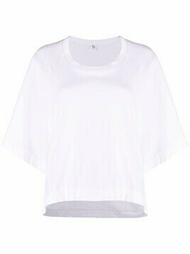 Y's high-low hem T-shirt - White