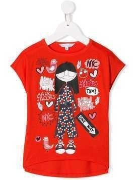Little Marc Jacobs Miss Marc print top - Orange