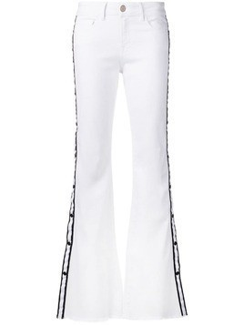 Don't Cry flared jeans - White