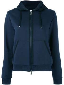 Moncler mix media hoodie - Blue