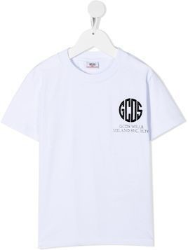 Gcds Kids logo-print cotton T-shirt - White