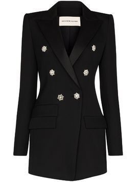Alexandre Vauthier crystal buttoned double-breasted blazer - 0193-1106 BLACK 0193-1106 BLACK