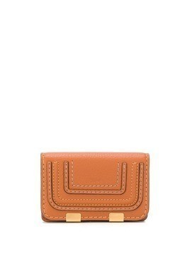 Chloé card stitch detail card holder - Brown