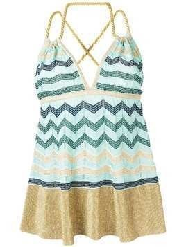 M Missoni crisscross straps knitted top - Blue