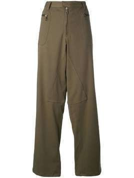 Romeo Gigli Pre-Owned dropped crotch wide trousers - Green