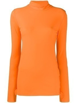 Dorothee Schumacher roll neck top - Orange