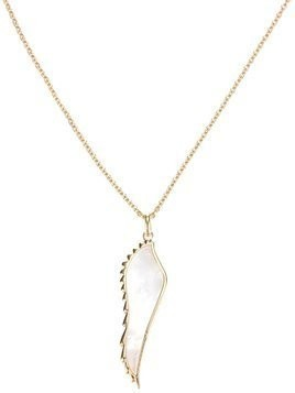 Garrard yellow gold wing pendant necklace - Metallic