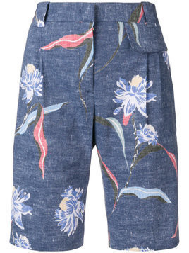 Paul Smith floral print tailored shorts - Blue