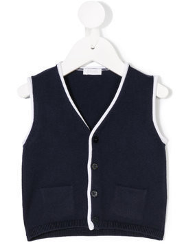 Il Gufo knitted vest - Blue