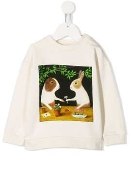 Gucci Kids animal print sweater - Neutrals
