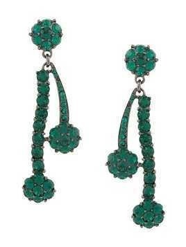 Oscar de la Renta Double Crystal drop earrings - Metallic