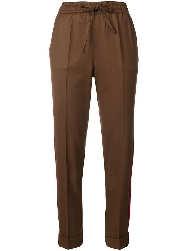 P.A.R.O.S.H. Liliu drawstring tapered trousers - Brown