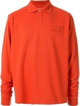 Martine Rose long sleeved polo shirt - ORANGE