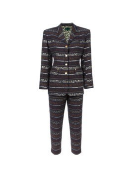Jean Paul Gaultier Vintage two piece patterned trouser suit - Multicolour