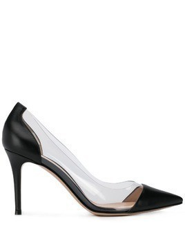 Gianvito Rossi transparent panel pumps - Black
