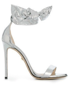 Grey Mer open-toe heeled sandals - Silver