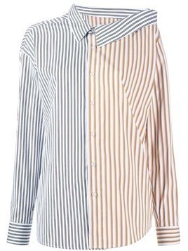 Each X Other deconstructed striped shirt - White