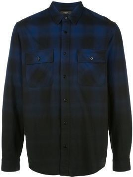 Amiri Dip Dye plaid flannel shirt - Blue