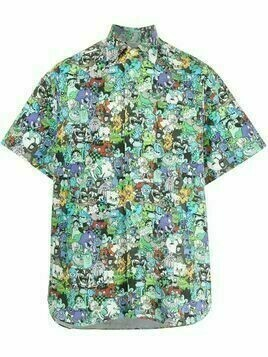 Vetements graphic print short-sleeved shirt - Multicolour