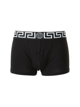 Versace 'Greca' fitted boxer shorts - Black