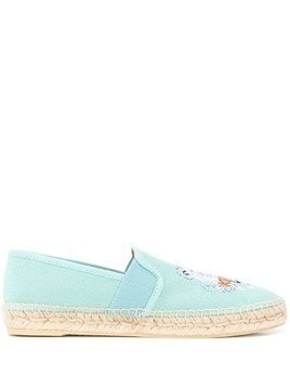 Kenzo embroidered Tiger espadrilles - Blue