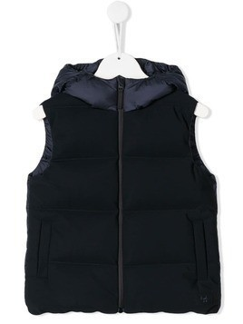 Il Gufo padded hooded gilet - Blue