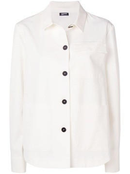 Jil Sander Navy denim overshirt jacket - White