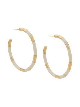Aurelie Bidermann Positano large earrings - White