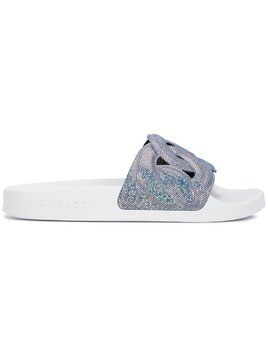 Casadei Pool flat slides - Blue