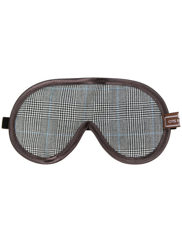 Otis Batterbee Glen plaid eye mask - Brown