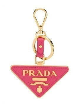 Prada signature logo keyring - Red