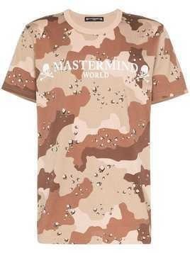 Mastermind Japan camouflage print T-shirt - Brown