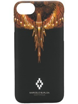 Marcelo Burlon County Of Milan printed iPhone 8 cover - Black