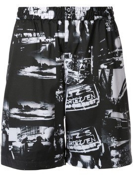 Loveless printed relaxed fit shorts - Black