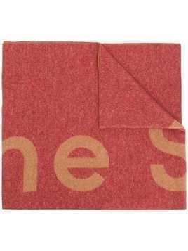 Acne Studios logo scarf - Red