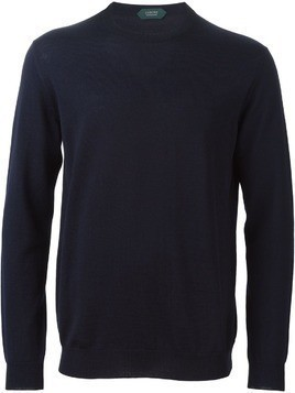 Zanone crew neck sweater - Blue