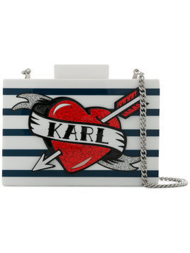 Karl Lagerfeld Captain Karl Minaudiere clutch - White