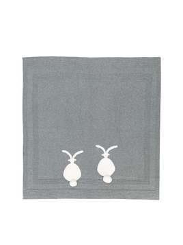 Stella Mccartney Kids bunny knitted blanket - Grey
