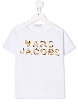 Little Marc Jacobs embellished logo T-shirt - White