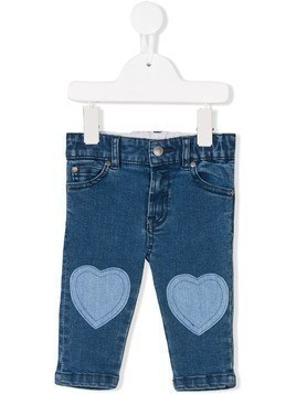 Stella Mccartney Kids heart patch jeans - Blue