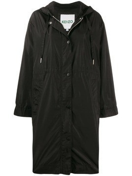 Kenzo logo hooded raincoat - Black