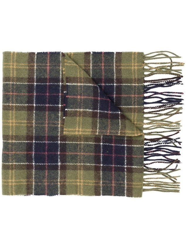 Barbour checked scarf - Green