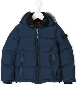 Ai Riders On The Storm Kids hooded zipped jacket - Blue