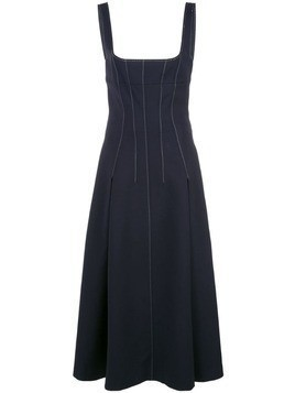 Dion Lee stitch detail corset dress - Blue