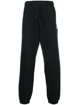 Adidas Originals By Alexander Wang - elasticated hem track pants - unisex - Cotton - XXS - Black