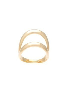 Ana Khouri double ring - Metallic