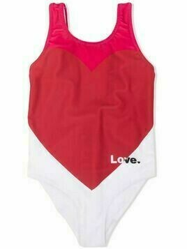 Simonetta heart-shaped one-piece swimsuit - White