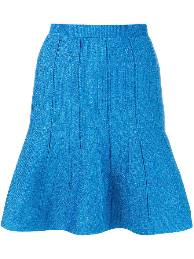 Alberta Ferretti flared short skirt - Blue